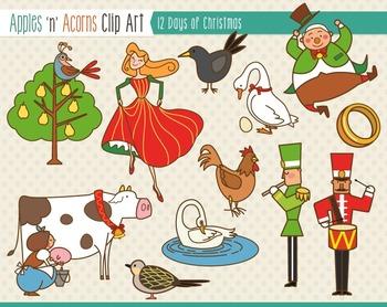 12 Days of Christmas Clip Art.