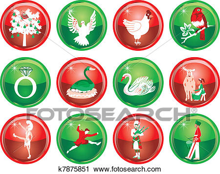 12 Days of Christmas Clipart.