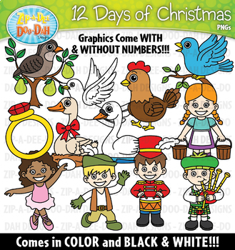 12 days of christmas clipart 3 » Clipart Station.