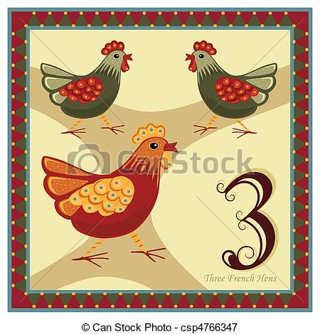Vector Clip Art of The 12 Days of Christmas.
