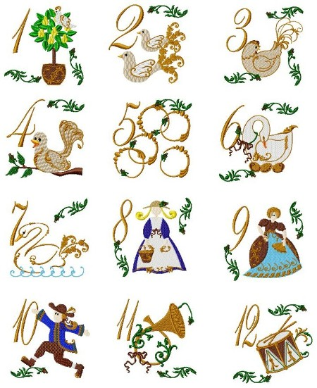 12 Days Of Christmas Clipart Free.