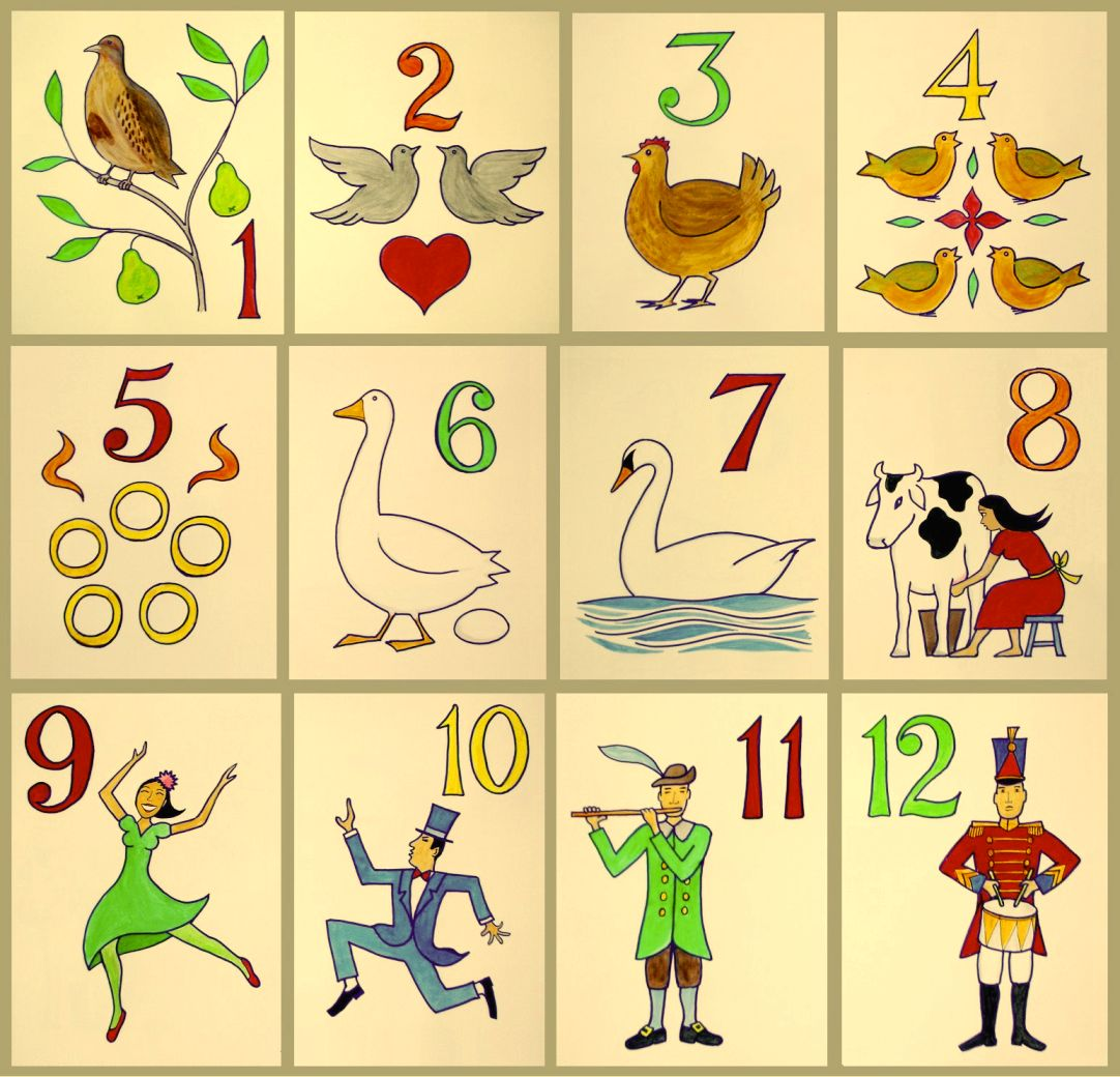 12 days of christmas images free download