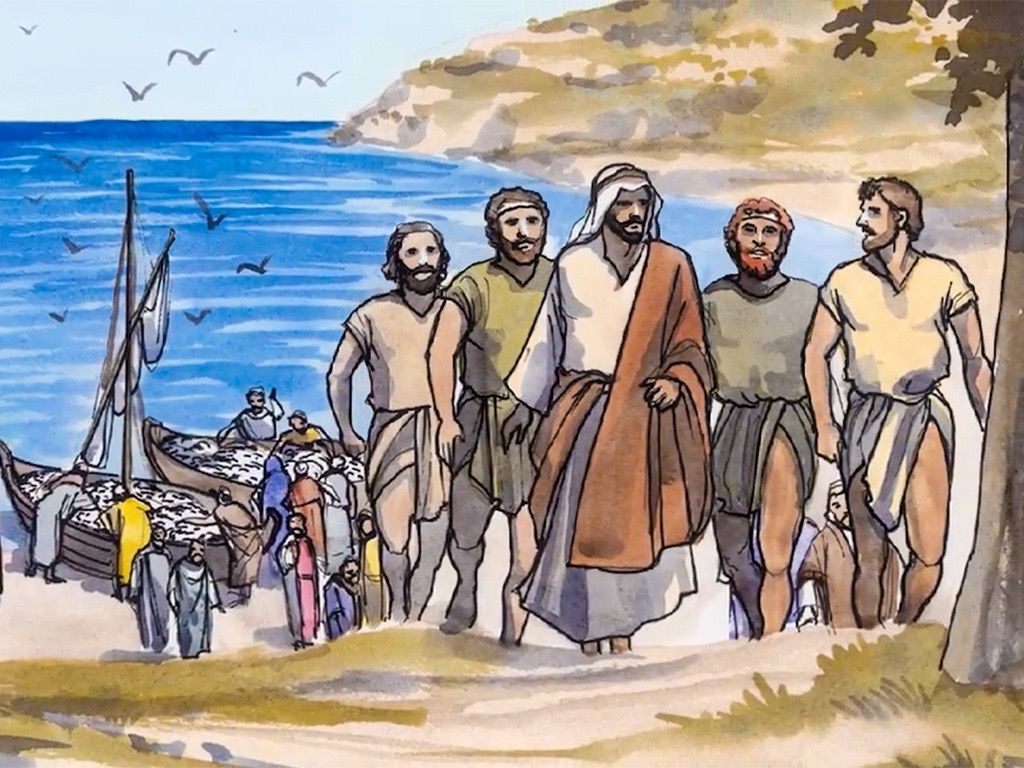 FreeBibleimages :: The calling of the first disciples.