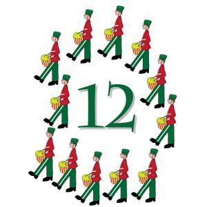 12 Days of Christmas Graphics.