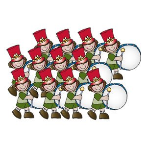 12 drummers drumming clipart » Clipart Portal.