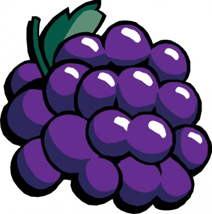 Grapes clipart free images 2.
