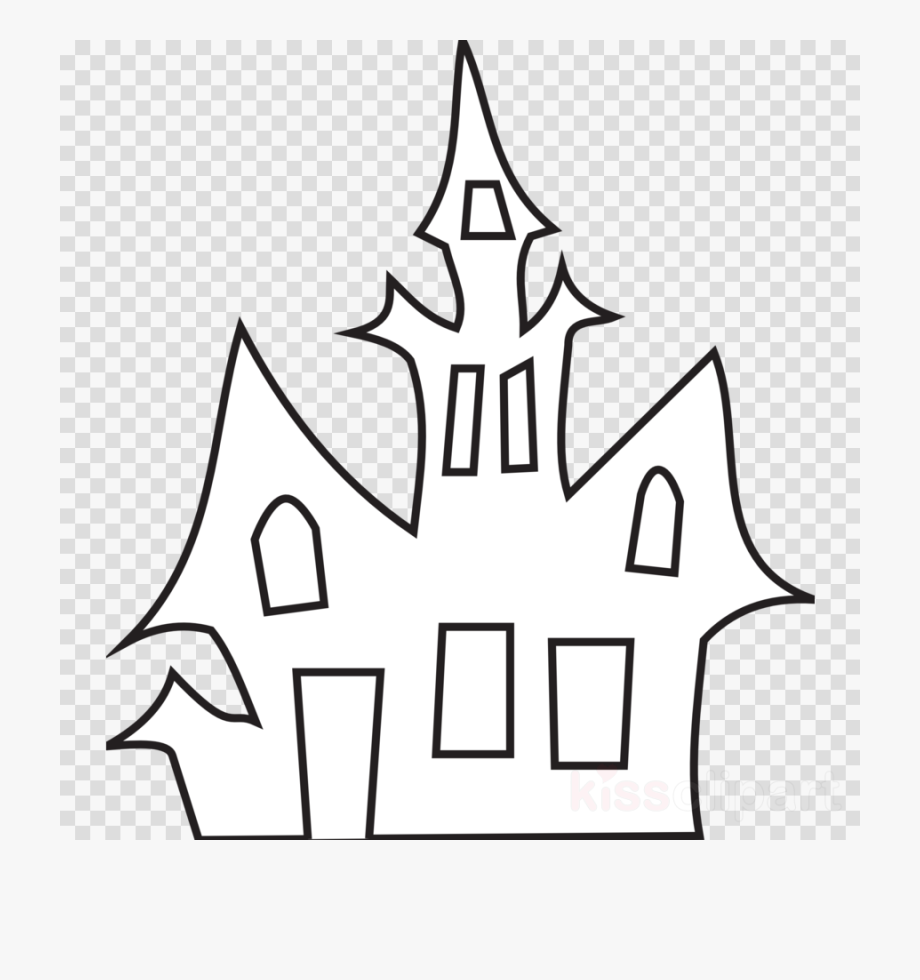 Haunted House Clip Art Black And White Clipart Haunted.