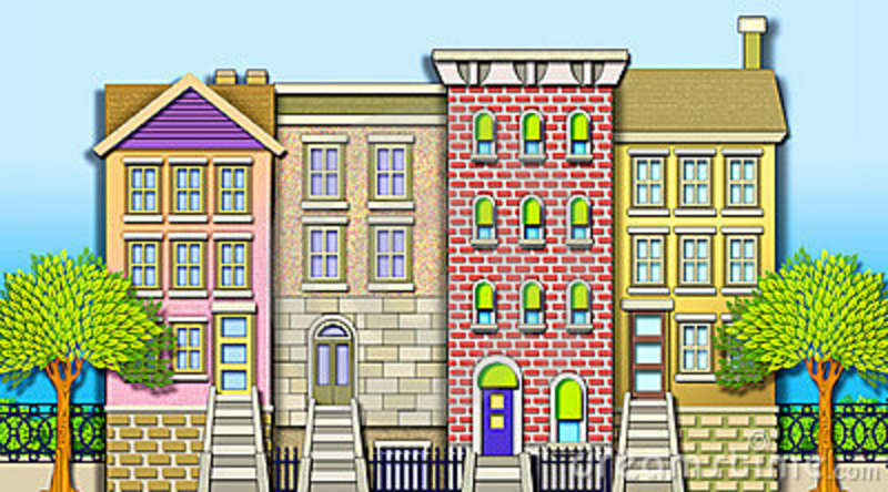 Terraced house clipart 12 » Clipart Station.