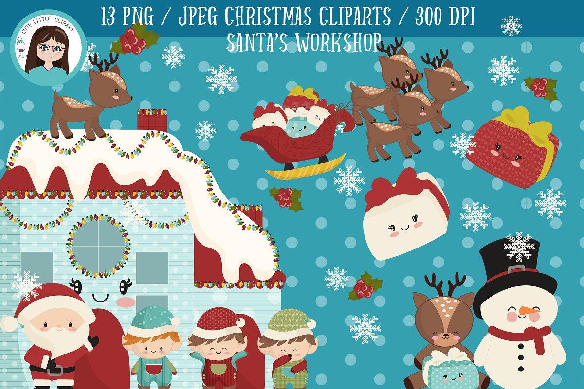 Santa\'s workshop clipart.