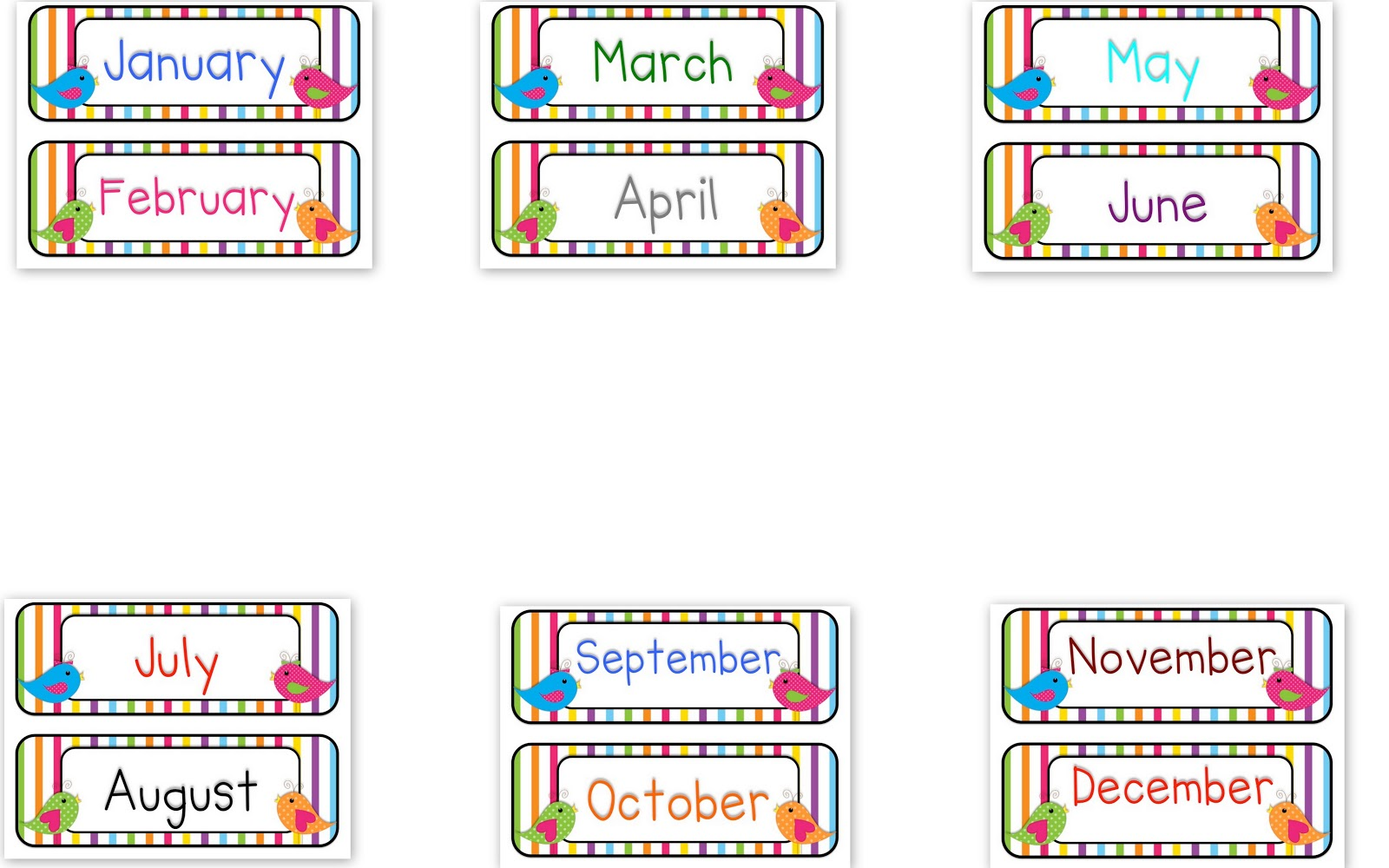 15+ Months Of The Year Clipart.