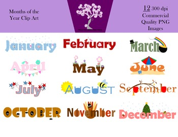 Months Of The Year Clipart Worksheets & Teaching Resources.