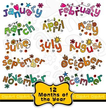 Calendar months clipart 8 » Clipart Portal.