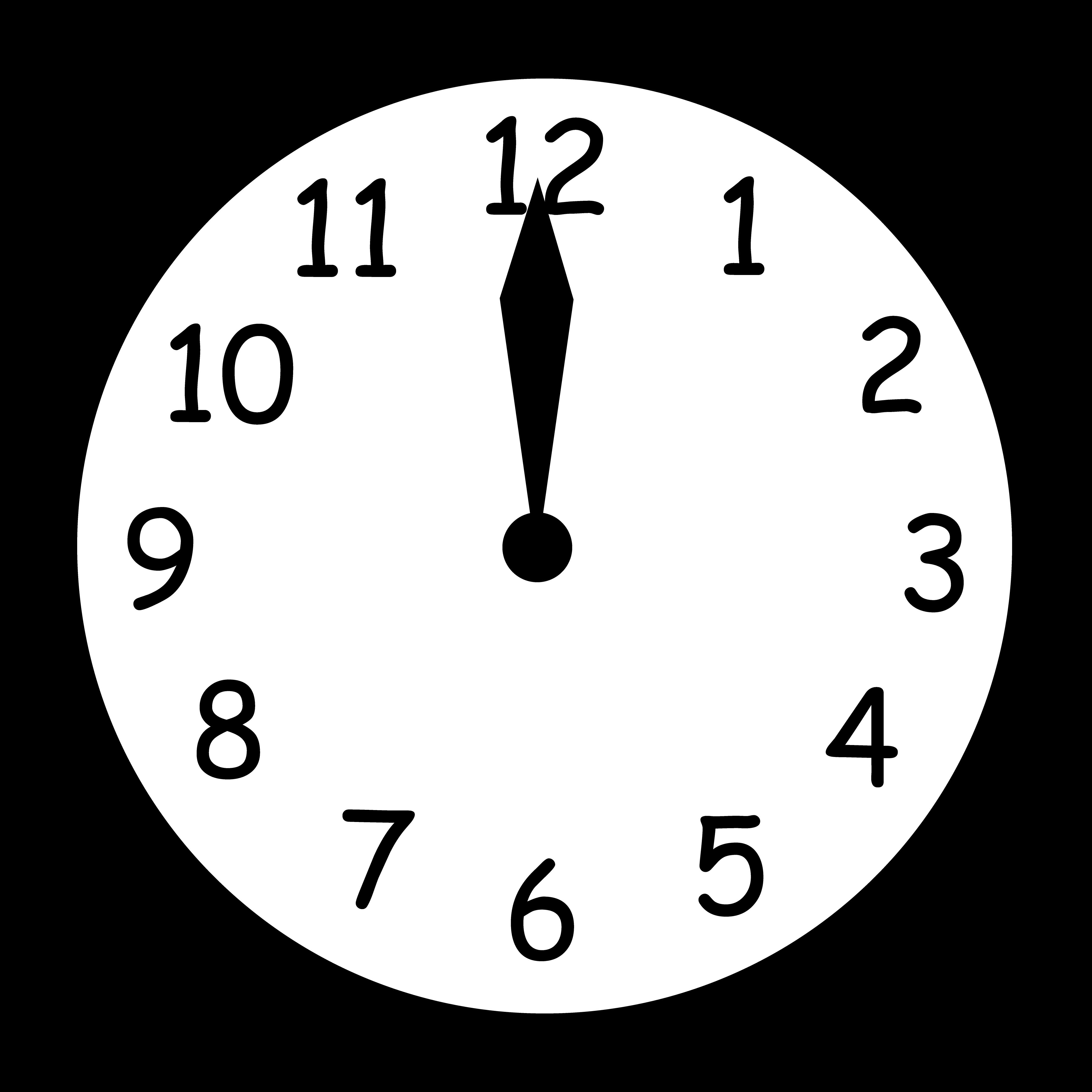 12 O\'clock Clipart.