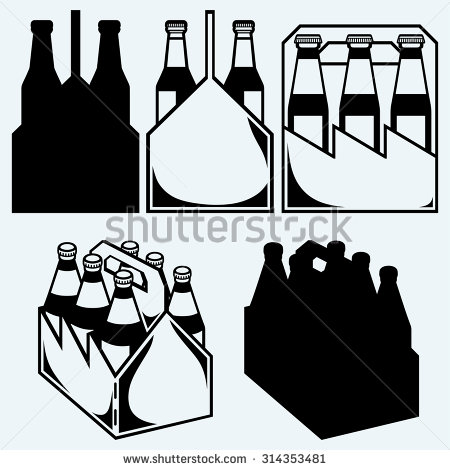 6 Pack Clipart.