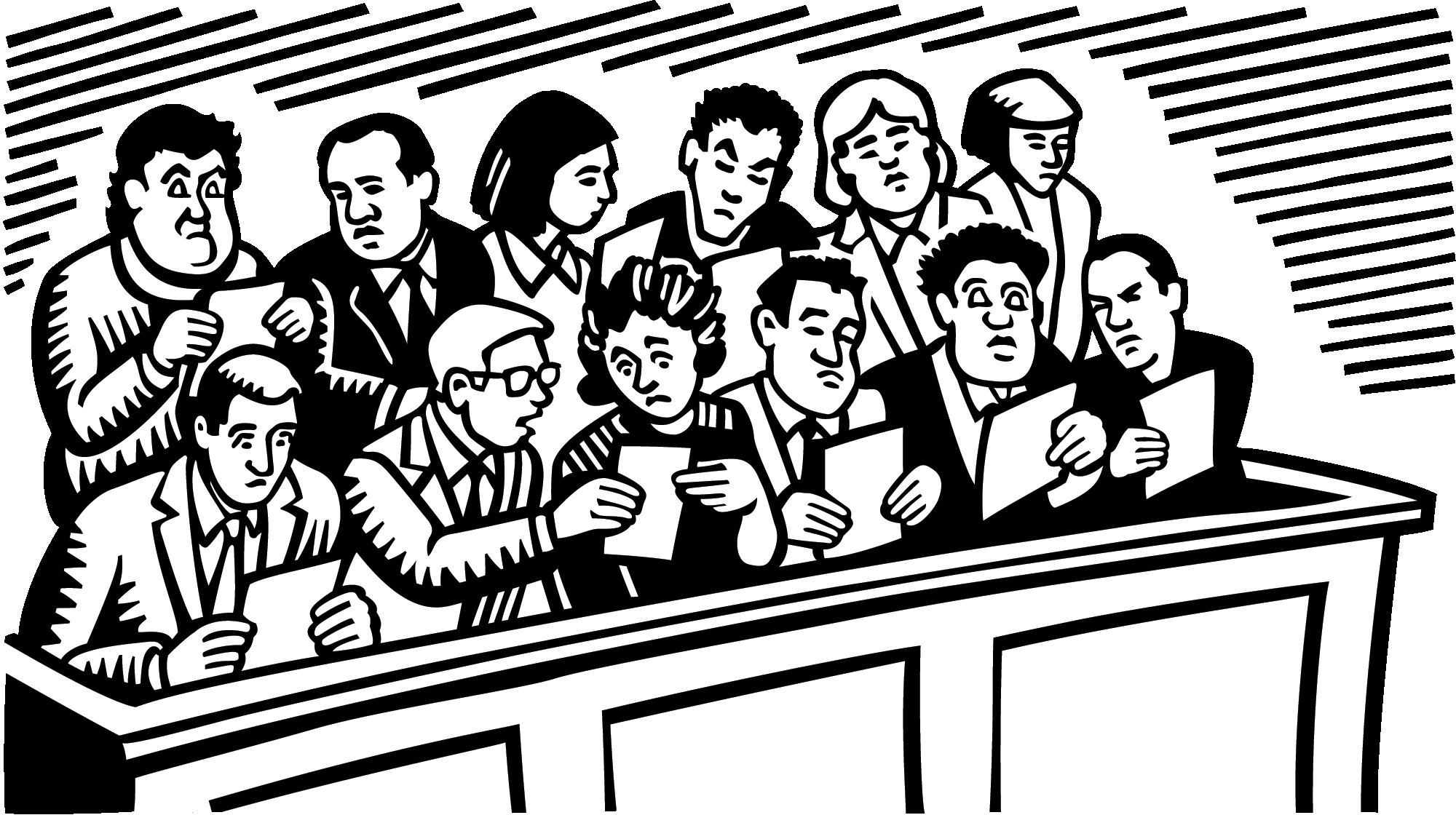 Jury Box Clipart.