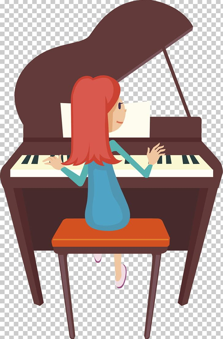 Player Piano PNG, Clipart, Art, Cartoon, Chair, Desk.