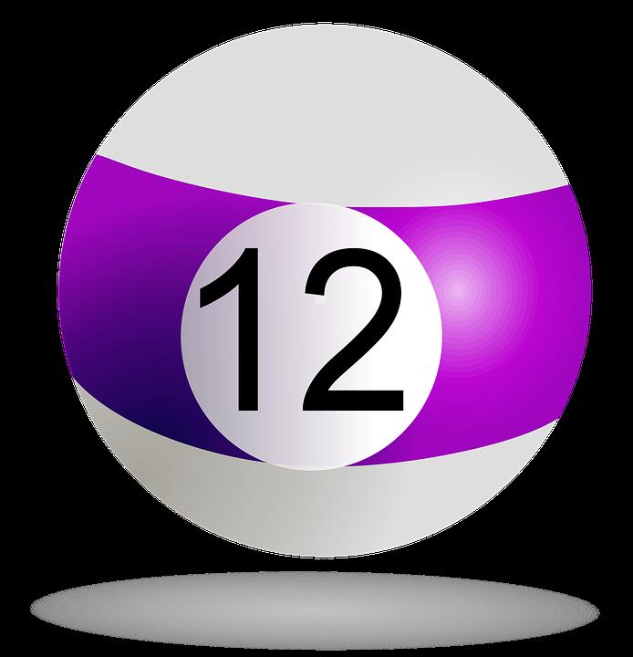 Billiard Ball Purple 12.