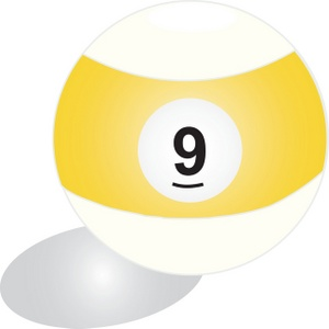 Pool Ball Clipart Image.