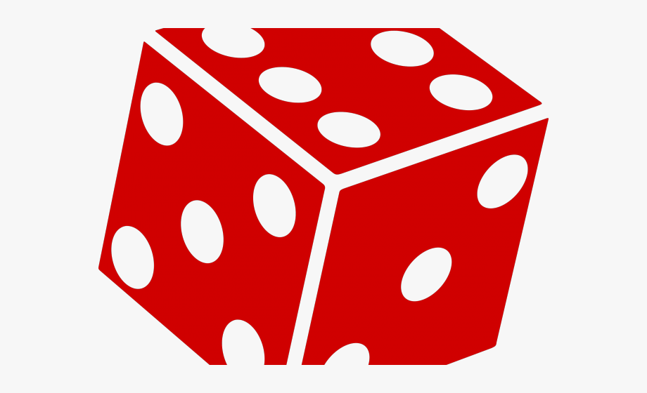 Dice Clipart Big Red.