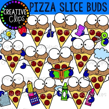 Pizza Slice Buds {Pizza Clipart}.