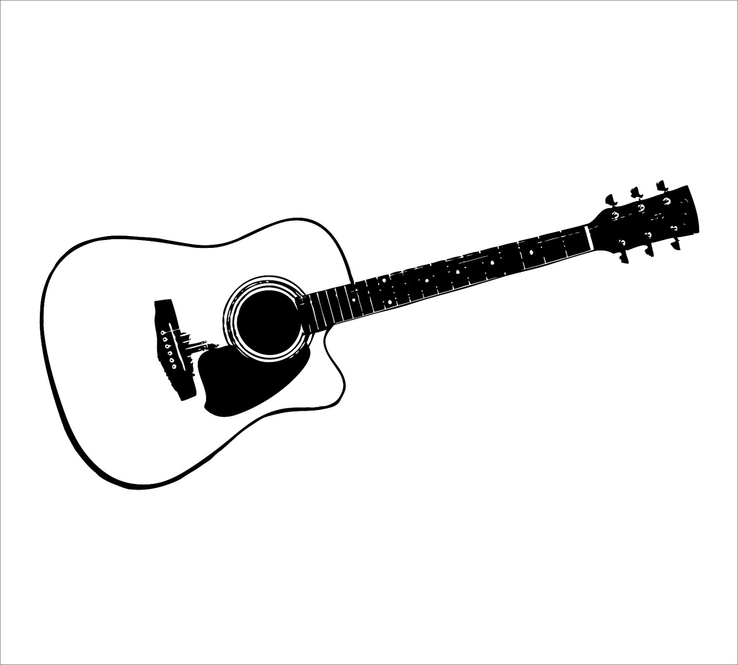 15 Acoustic Guitar Pictures Black and White Compilation.