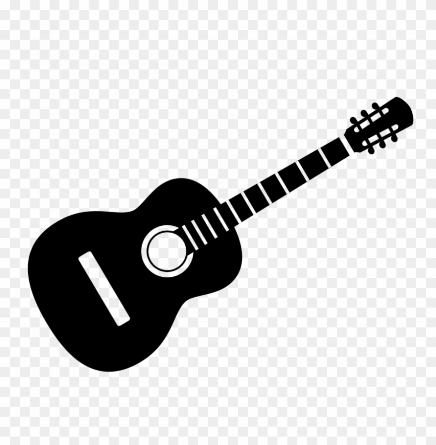 Guitar Clipart Black And White.