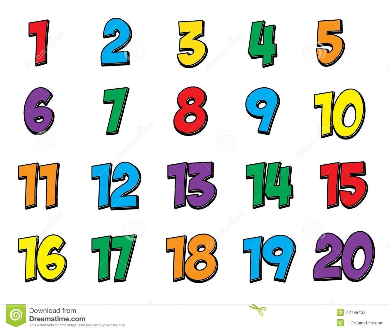 Clipart Numbers 1.
