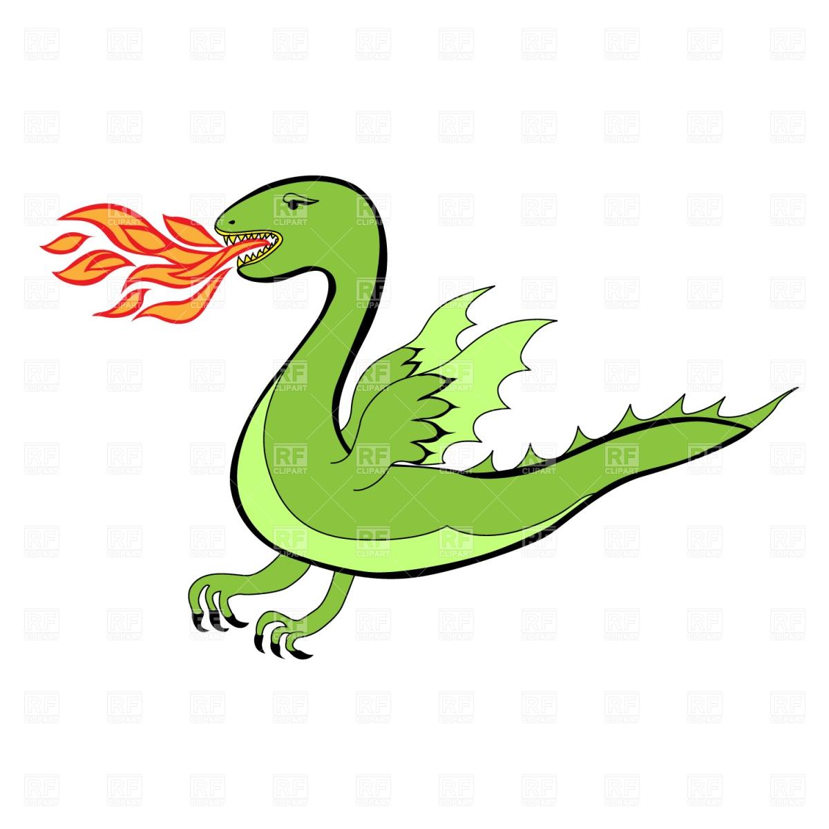 Cartoon dragon Vector Image of Plants and Animals © piekno #1219.