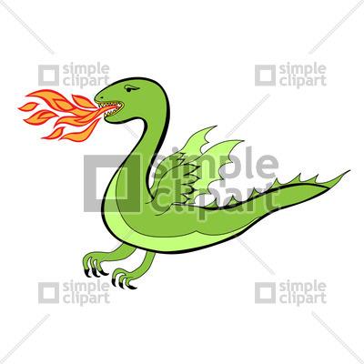 Cartoon dragon, vector clipart (eps), 1219, SimpleClipart.
