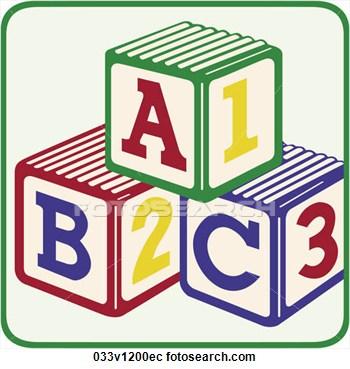 ABC 123 Blocks Clipart.