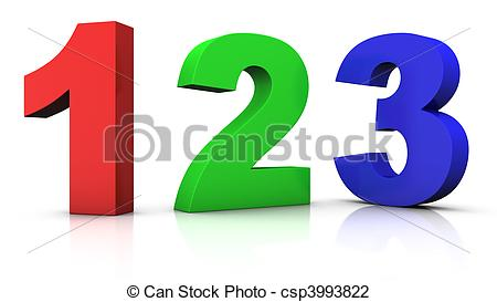 multicolored numbers.