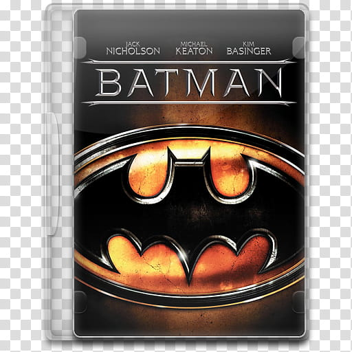 Movie Icon , Batman, Batman DVD case transparent background.