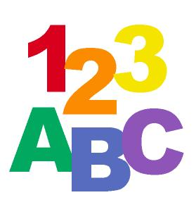 ABC and 123 Clipart.