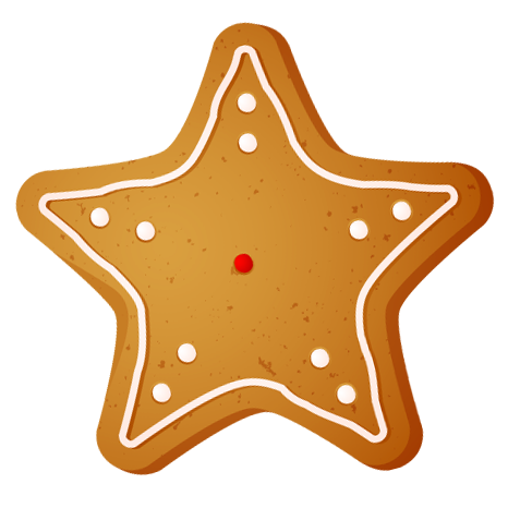 Transparent christmas star cookie clipart 0 image #12345.
