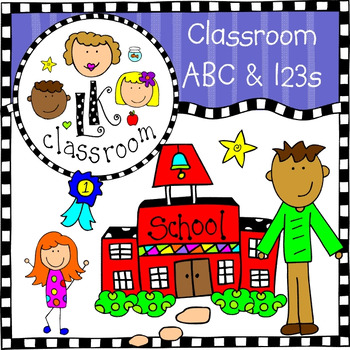 ABCs and 123s Clip Art Bundle (Me and My Peeps).