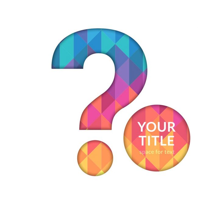 Free vector Free Question Mark Cutout Vector Background #12548.