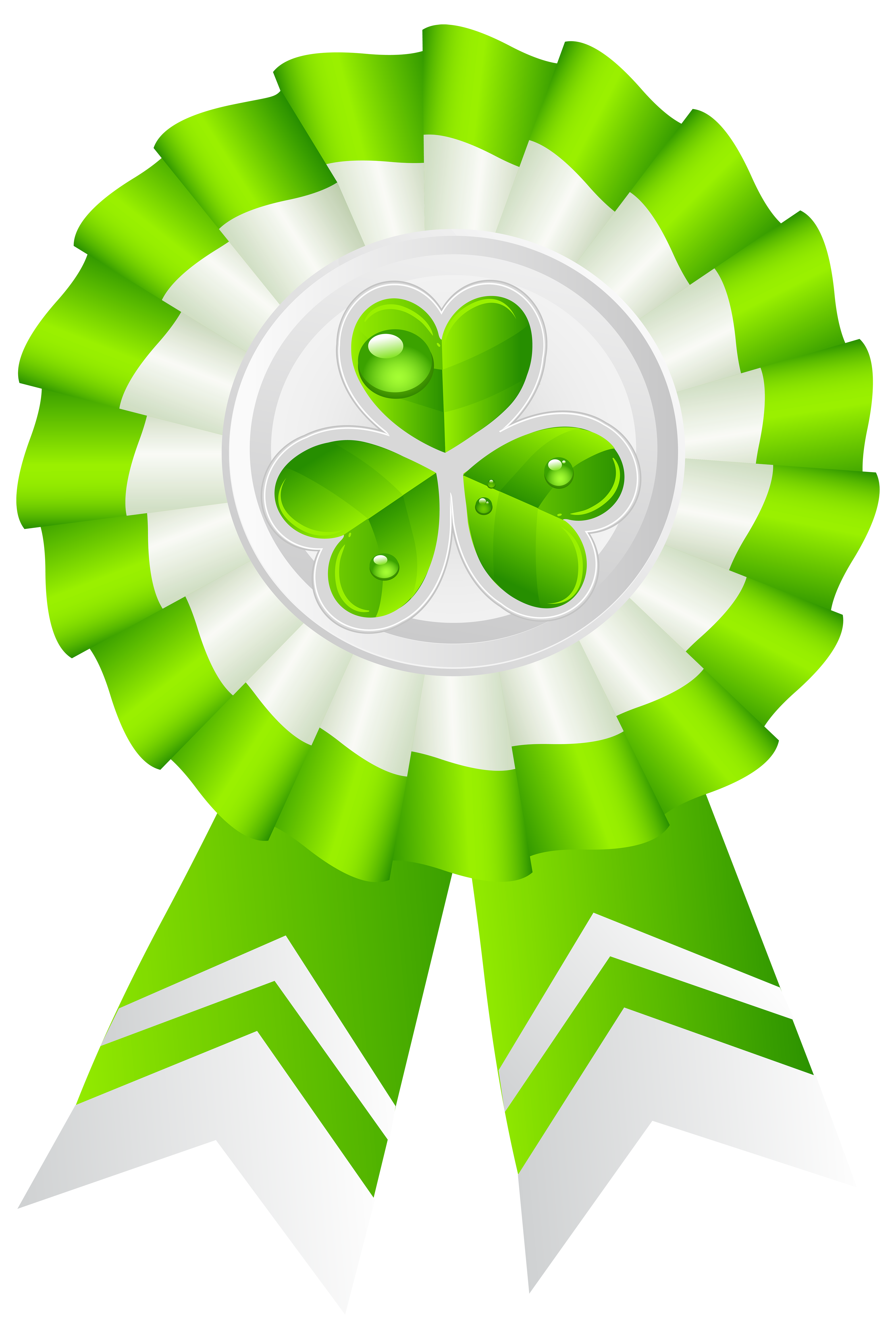 St Patricks Day Seal with Shamrock Transparent PNG Clip Art Image.