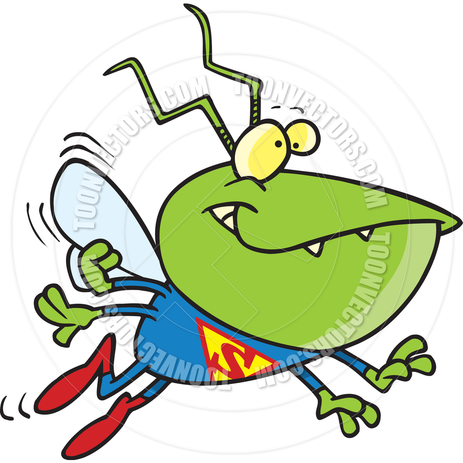 Cartoon Super Bug by Ron Leishman.