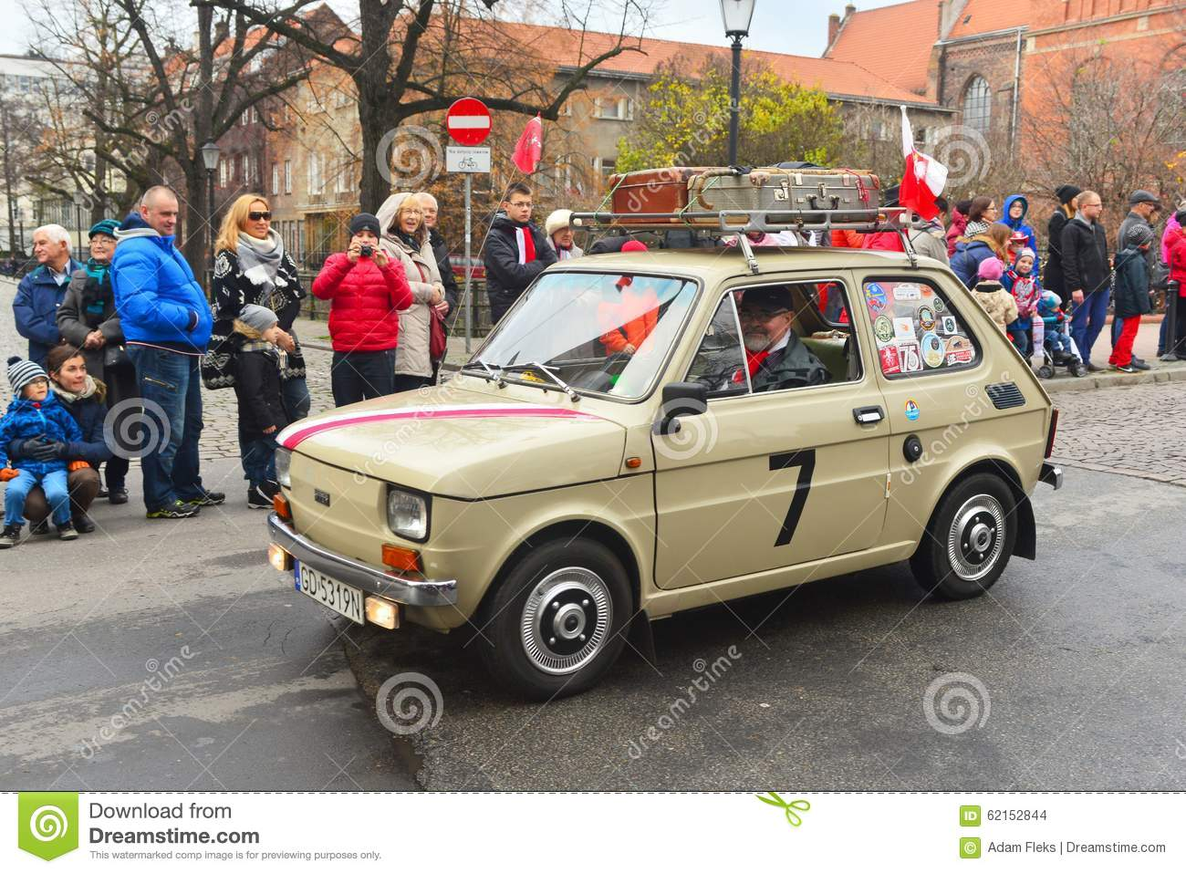 Classic Polish Car Polski Fiat 126p On A Parade Editorial Stock.