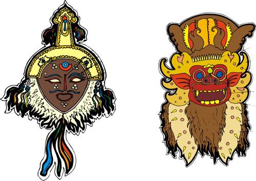 Africa. Egypt, pharaohs mask (127 clipart images)..