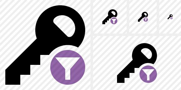 Key Filter Icon.