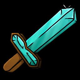 Diamond Sword Icon.