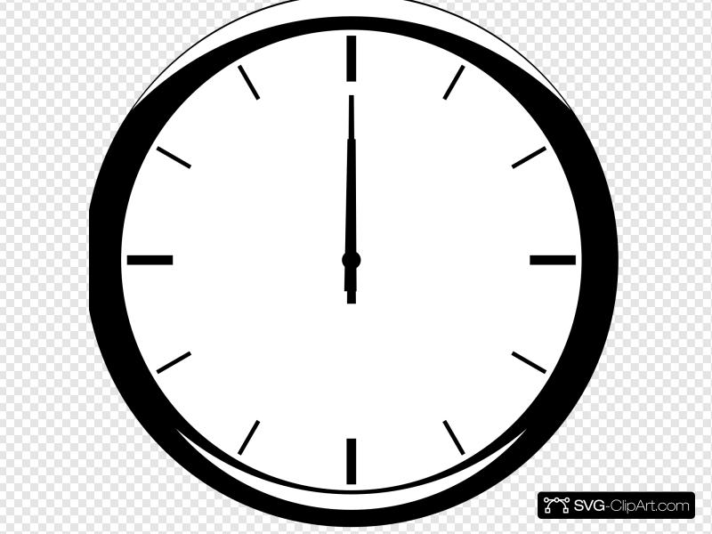 1200 Analog Clock Clip art, Icon and SVG.