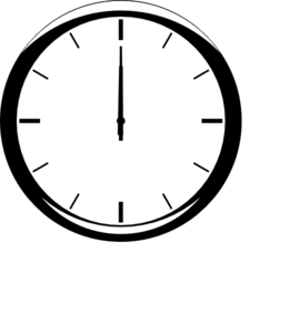 1200 Analog Clock Clip Art at Clker.com.
