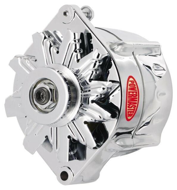 Powermaster 37297 GM 12si Smooth LOOK Alternator 150a W/ 1v Pulley Chrome.