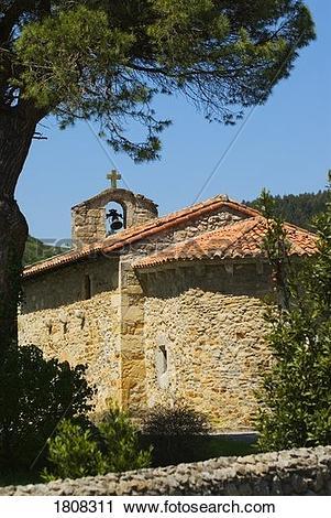 Stock Photography of 12th Century Ermita, San Román de Escalante.