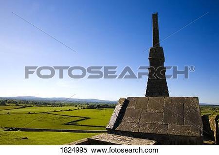 Stock Image of 12th century high cross, Rock of Cashel, County.