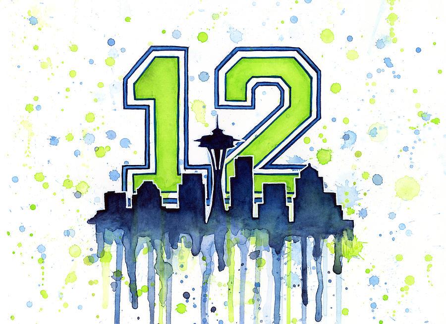 Seattle Seahawks 12th Man Art.