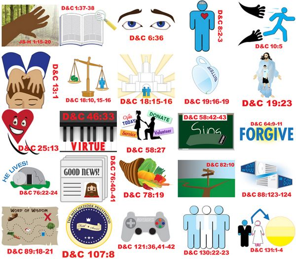 DOCTRINE & COVENANTS SCRIPTURE MASTERY CLIPART.