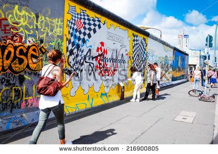 Berlin Wall Stock Photos, Royalty.